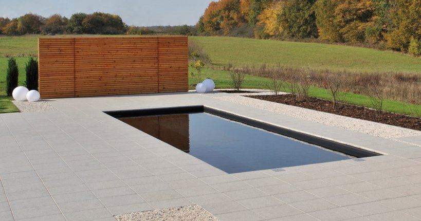 Terrassenplatte Naturgrau